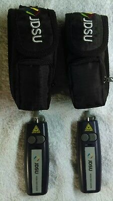 Pair of 2 JDSU FFL-050 Mini Visual Fault Locator w Cases VFL Free Shipping