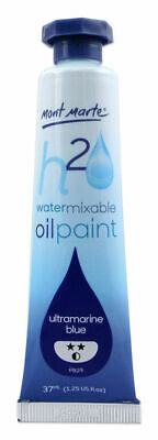 Mont Marte H2O Water Mixable Oil Paint 37ml - Ultra Blue