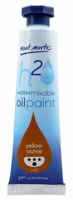 Mont Marte H2O Water Mixable Oil Paint 37ml - Yellow Ochre
