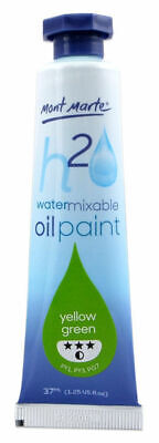 Mont Marte H2O Water Mixable Oil Paint 37ml - Yellow Green