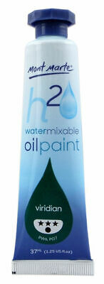 Mont Marte H2O Water Mixable Oil Paint 37ml - Viridian
