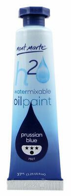 Mont Marte H2O Water Mixable Oil Paint 37ml - Prussian Blue