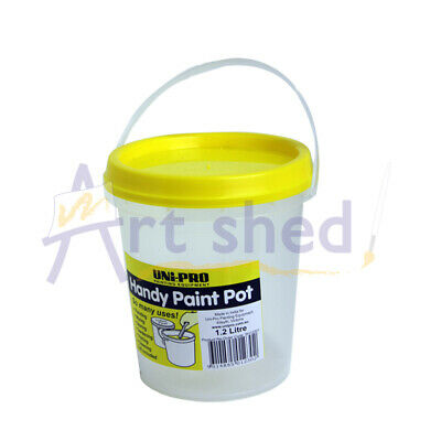 Unipro Clear Plastic Bucket and Lid 1.2 litre