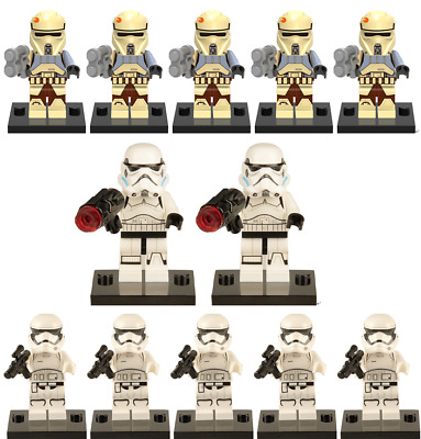 STAR WARS 12PCS WHITE CLONE TROOPER Minifigures lego compatible Blocks Toys @361