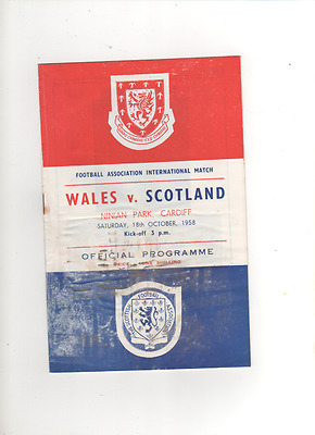 WALES V SCOTLAND 18/10/1958 INTERNATIONAL@ Ninian Park, cardiff