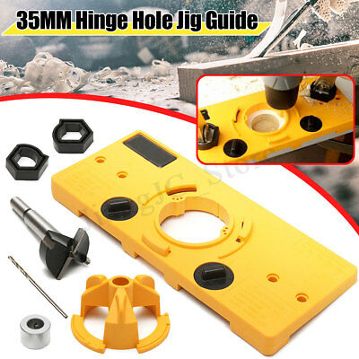 Concealed Hinge Jig 35MM Cup-Style Forstner Drill Guide Cabinet Door Hole Cutter