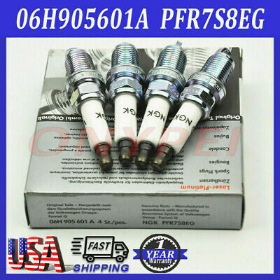 4PCS  New iridium Spark Plug for Audi A4 A5 VW Passat 06H905601A PFR7S8EG