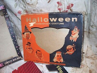 Vintage Halloween Costume Box Lot- Very Old Decorative Box Must Be Seen Colorful