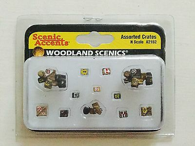 Woodland Scenics Accents 1/160 N Scale Assorted Crates # A2162 Factory Sealed