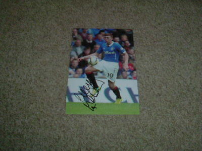 LEWIS McLEOD - GLASGOW RANGERS - SIGNED 6 X 4 PHOTOGRAPH