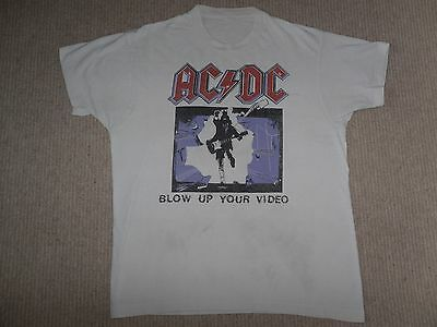 ACDC t-shirt 1988 vtg BLOW UP YOUR VIDEO tour DOKKEN Guns n Roses KISS Metallica