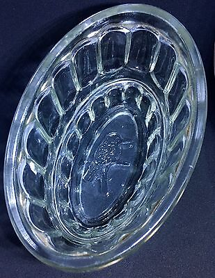 Australian Vintage KOOKABURRA JELLY MOULD DISH Antique Pressed Glass old kitchen