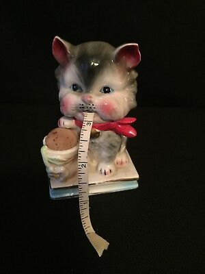 Vtg Kitten Cat ~Fabric Tape Measure ~