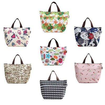 Women Portable Insulated Thermal Cooler Lunch Box Carry Tote Bag Picnic Hot