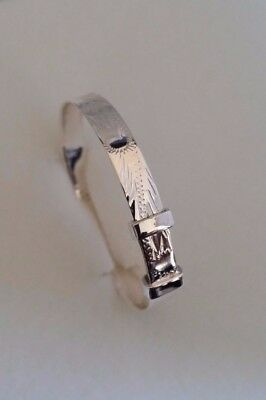 925 Sterling Silver Chunky Expanding Babies Bangle Cuff Christening Gift 5mm