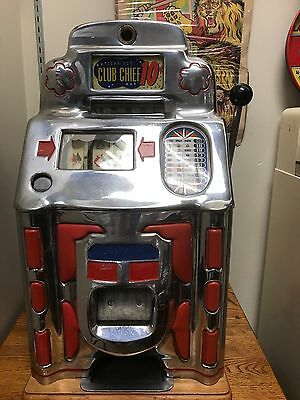 Jennings Club Chief 10c Slot Machine