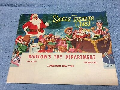Jamestown NY-Bigelow Department Store-Christmas Toy Catalog 1956-Mint Cond.