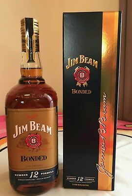 Jim Beam Bourbon Bonded 50%! Old Style 1 Litre! Rare In Box!