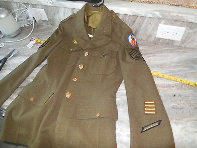 Early WW2 Technician Third Grade 9th Army Air Corps Jacket Combat Used Uniform