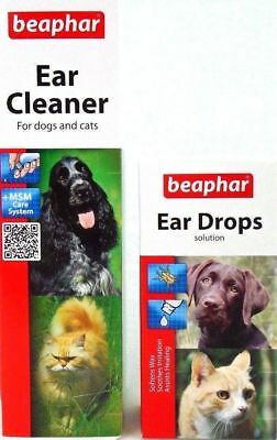 Beaphar Ear Cleaner, Beaphar Ear Drops for Dogs and Cats