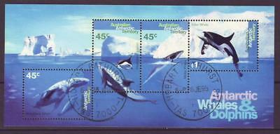 m3140/ Australia Antarctic Whale & Dolphin Block Issue 1995