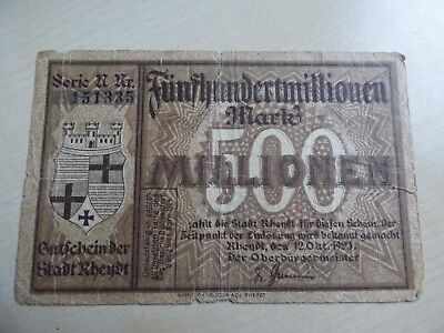 Germany Rheydt 500000000 500 Million Mark 1923 Banknote (refn83BN)