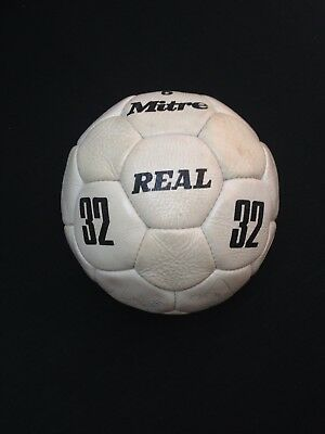 England 1980/ 1982 Hand Signed Mitre 32 Real Ball Keegan Hoddle Greenwood