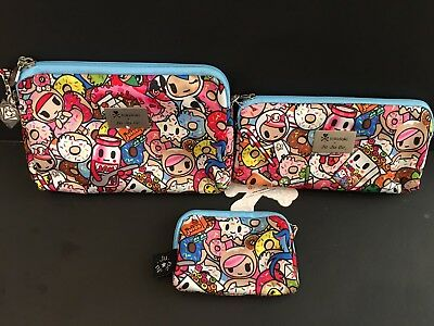 NWT Jujube Tokidoki Tokipops Toki Pops TP Be Set Be Sets BS 3 pouches Donutella