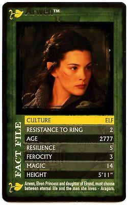 Arwen The Lord Of The Rings The Fellowship Of The Ring Top Trumps Card (C458)