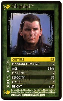 Gil-Galad  Lord Of The Rings The Fellowship Of The Ring Top Trumps Card (C458)