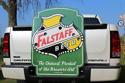 Falstaff Beer Porcelain Neon Sign Skin Gas Oil Ford Texas Man Cave