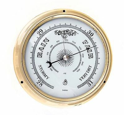 Brass Or Chrome Traditional Barometer