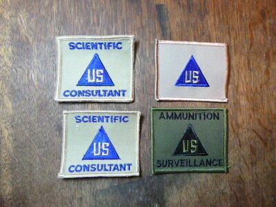 A   Lot of 4   U S Army  Civilian in the Field Merrowed Edge Patches #2