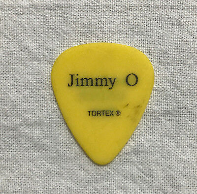 Jimmy O'Tell yellow Guitar Pick roadie Korn authentic over loved under paid