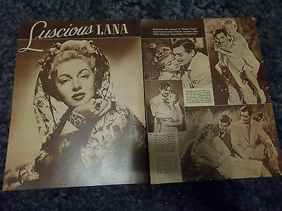 Luscious Lana Turner  clipping #729
