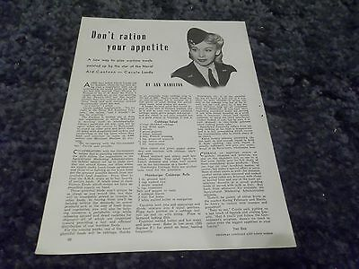 Carole Landis wartime  clipping #729