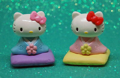 Mini figure set cute Japan Hello kitty kimono yukata My melody re ment Re-Ment