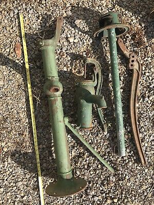 *TWO* Vintage Cast Iron Water Well Pump Parts Bushnell?