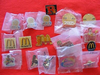 17 McDonald Crew Pins Jewelry Garfield Pin Ronald McDonald Advertising
