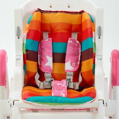 Baby Stroller Pram Pushchair Rainbow Seat Cushion Body Pad Mat Liner Color Strip