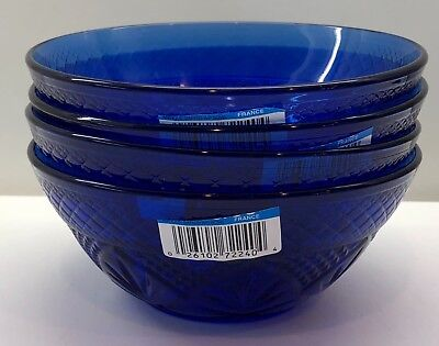 Cris D'arques Durand ANTIQUE SAPPHIRE BLUE Salad Bowl (s) NEW