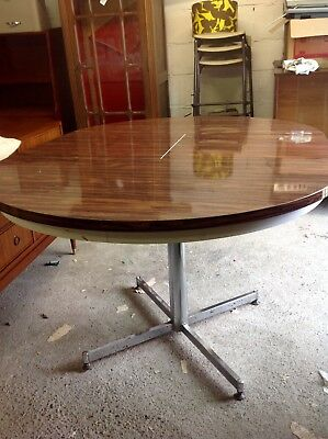 midcentury rosewood and chrome extending dining table
