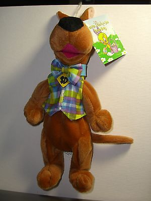 Warner Brothers Easter Scooby-Doo 1998 bean bag plush figure-New-w/tag-WB