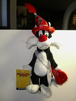 Warner Brothers 1999 Sylvester 2000 bean bag figure-New-w/tags-MIL-LOONEY-UM