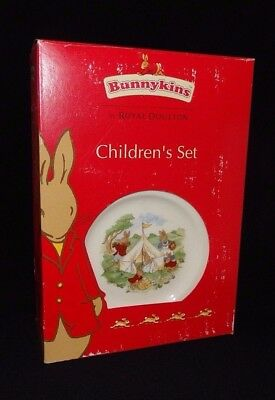 Royal Doulton Bunnykins 3 Piece Set 2003 Plate Bowl Cup NIB Traditional Shape