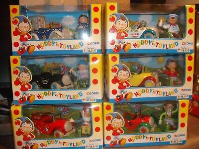 Noddy In Toyland Full Corgi Set Figures And Cars New In Original Boxes.