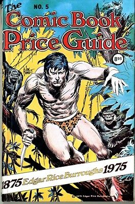 Overstreet Price Guide  #5 1975  Hard cover  Tarzan on the cover  NM