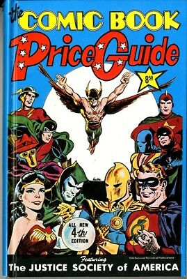 Overstreet Price Guide  #4 1974  Hard cover  DC Super Heroes on the cover  NM