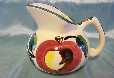 Vintage Purinton Pottery Apple Kent Jug Creamer Syrup Gravy Pitcher - 14 oz.