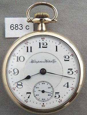 Hampden No. 105, Railroad Pocket Watch, 21 Jewels, Lever Set